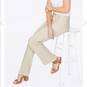 Nordstrom NYDJ wide leg stretch linen trouser